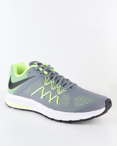 buy online f0460 468e6 Nike Performance Men's Air Zoom Winflo 3 Running Shoe Grey