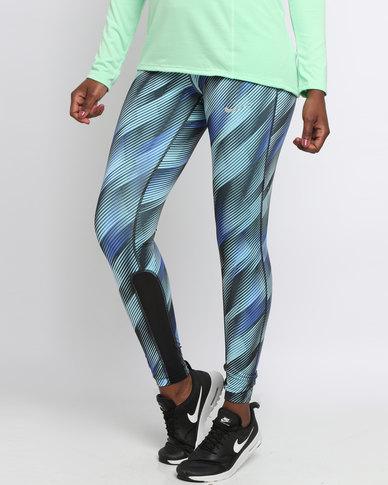 Nike Performance Women s Power Epic Running Tights Blue  53cb2cf798