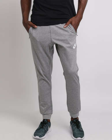 70e6badcbb02 Nike Mens Sportswear AV15 Fleece Jogger Grey Black