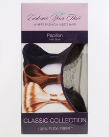 EMBRACE YOUR HAIR Papillon Clip in Bow Silky Black