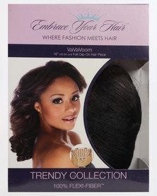 EMBRACE YOUR HAIR Va Va Voom Clip On Half Wig/Piece Silky Black