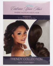 EMBRACE YOUR HAIR Va Va Voom Clip On Half Wig/Piece  Light Brown