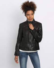 Utopia Leather Jacket Black