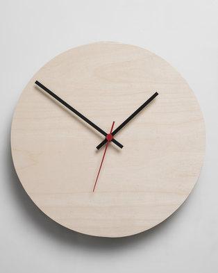 Native Decor Round Clock Neutral