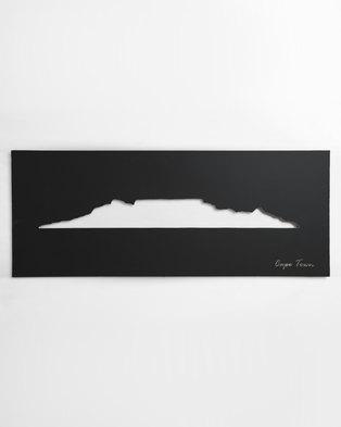Native Decor Cape Town Skyline Wall Art Black