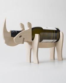 Native Decor Rhino Wine Holder Brown