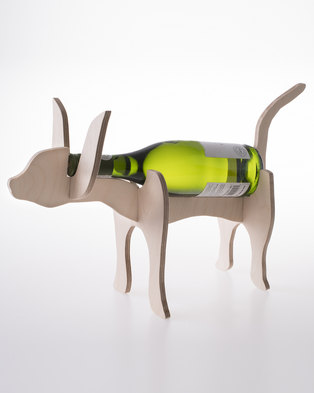 Native Decor Cat Wine Holder Brown