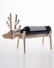 Native Decor Reindeer Wine Holder Brown