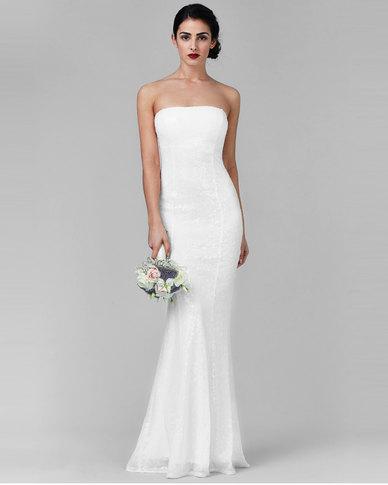 Maxi white wedding dresses