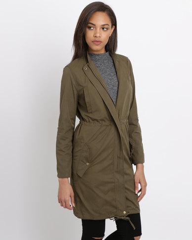 Polo Ladies Parka Jacket Military Green  dea7dcd462b4