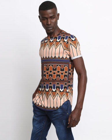 Utopia Ethnic Printed Tee Multi
