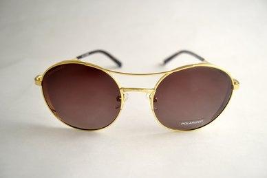 bd11bb546e354 Complete the look. Lentes   Marcos Laguna Polarised Amber   Gold Retro  Round Sunglasses