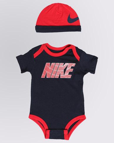 ebb8b8e2a Nike Futura Bodysuit Hat Set Navy