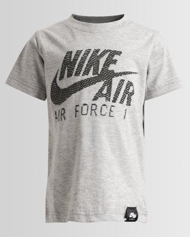 78c4035ab7 Nike Boys Air Force 1 Tee Grey