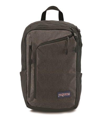 JanSport Platform Backpack Black and White Herringbone