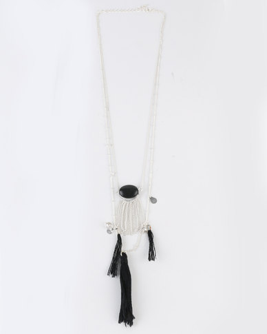 Miss Maxi Necklace Silver-Tone