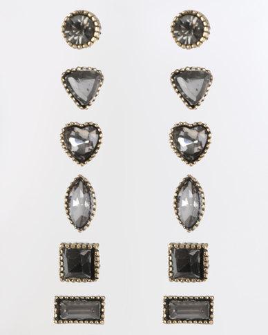 Miss Maxi Multi Earring Pack Black