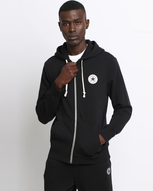 38% Sale Converse Core Full Zip Hoodie black |