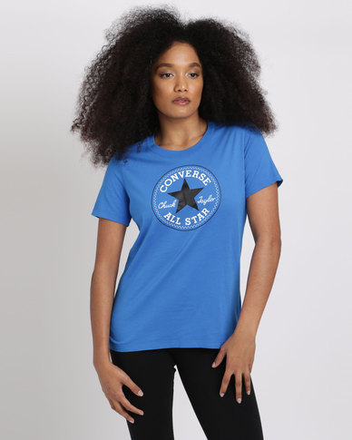 37220213bab Converse Core Solid Chuck Patch Crew Blue