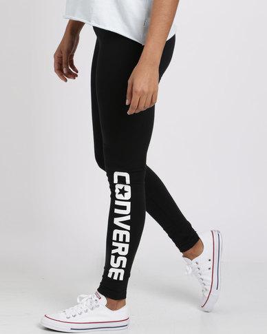 12f99f39b4be1 Converse Core Wordmark Leggings Black | Zando