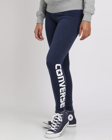 Converse Core Wordmark Legging Nighttime Navy