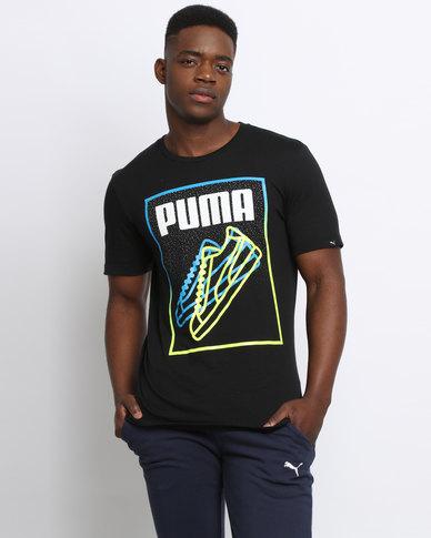 Puma Sneaker Lines Tee Black