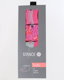 Stance Baby Purdy Multi 3 Pack Sock Set Pink