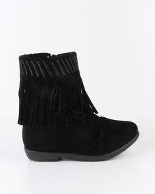 Bratz Girls Tassel Detail Ankle Boot Black