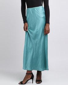 UB Creative Satin Skirt Sleepwear Green Blue