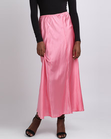 UB Creative Satin Skirt Sleepwear Pink