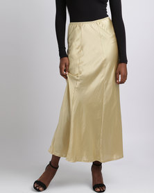 UB Creative Satin Skirt Sleepwear Gold