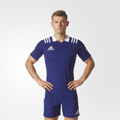 3-Stripes Fitted Rugby Jersey