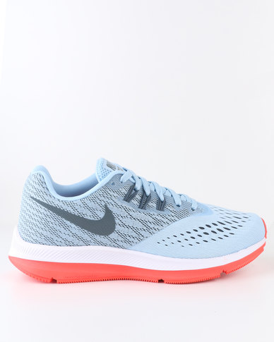 7350723fc49e6 Nike Performance Women s Zoom Winflo 4 Running Shoes Ice Blue
