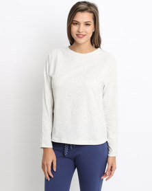Women'secret Feminine Top Light Grey
