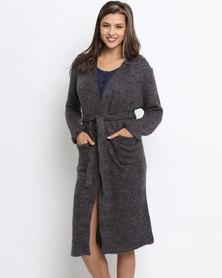 Women'secret Long Patch Robe Marine Blue