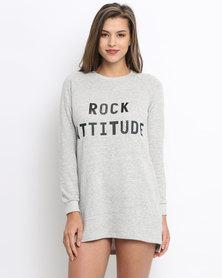 Women'secret Rock Sweat Dress Grey