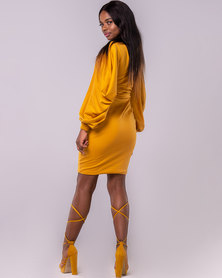 Blue Mango Luxury Dress Mustard