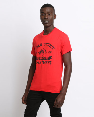 Polo Sport Men's Printed Basic Tee Red