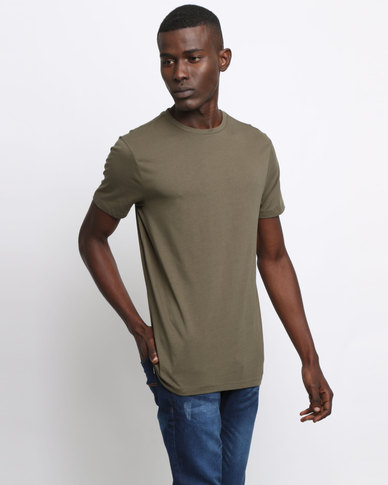 New Look Crew Neck T-Shirt Khaki
