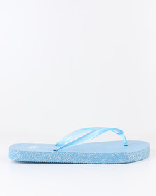 New Look Glisten Eva Flip Flop Blue