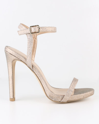 New Look Santorini Shimmer Sandals Gold