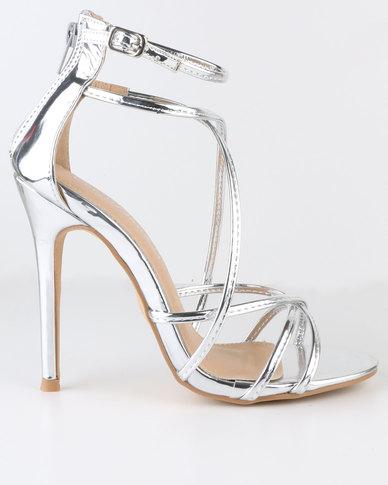 Miss Black Razzmatazz High Heel Sandal Silver