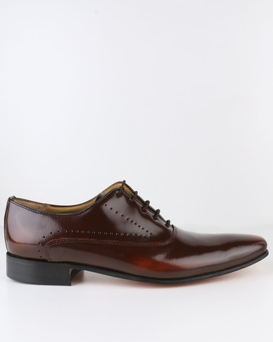 newest online Crockett & Jones Crockett & Jones Formal Leather Lace Up Cognac buy cheap Cheapest u7csG