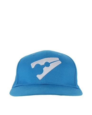 Peg Baseball Flat Cap Light Blue and White  465b7a4c878e