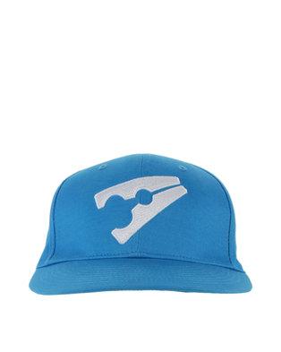58fc376109b Peg Baseball Flat Cap Light Blue and White