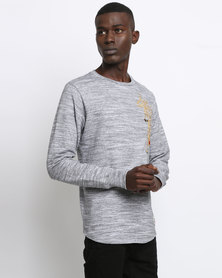 Holmes Bros Tiger Embroidery Sweater Grey