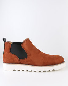Crouch Casual Slip On Boot Tan