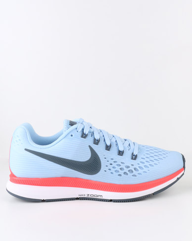 2479d364bc71 Nike Performance Women s Air Zoom Pegasus 34 Ice Blue Bright  Crimson White Blue Fox