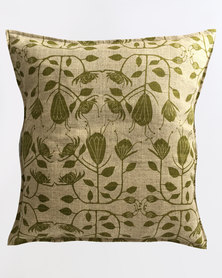MARADADHI TEXTILES Protea Design Cushion Cover Green