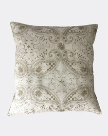 MARADADHI TEXTILES Paisley Design Cushion Cover Grey